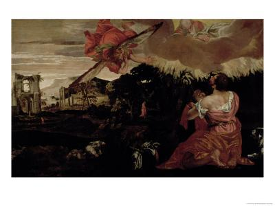 Moses and the Burning Bush-Paolo Veronese-Giclee Print