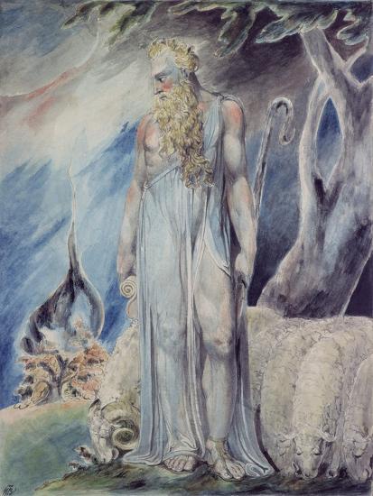 Moses and the Burning Bush-William Blake-Giclee Print