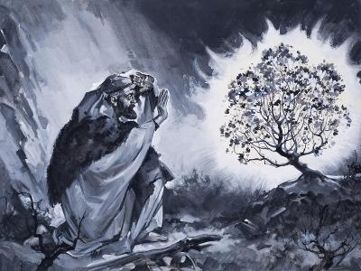 Moses and the Burning Bush-McConnell-Giclee Print