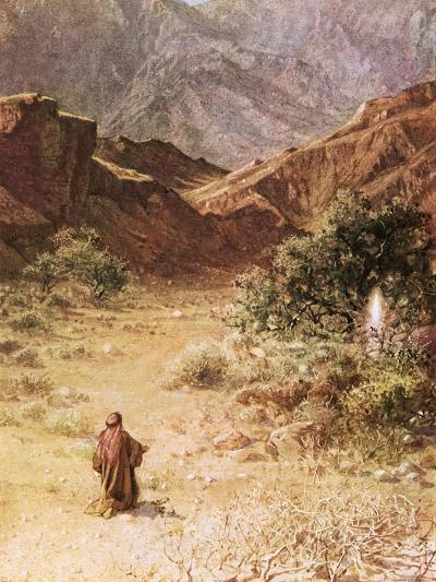 Moses and the Burning Bush-William Brassey Hole-Giclee Print