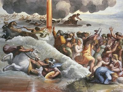 Moses Crossing the Red Sea-Raphael-Giclee Print