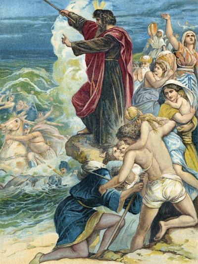 Moses Crossing the Red Sea-German School-Giclee Print