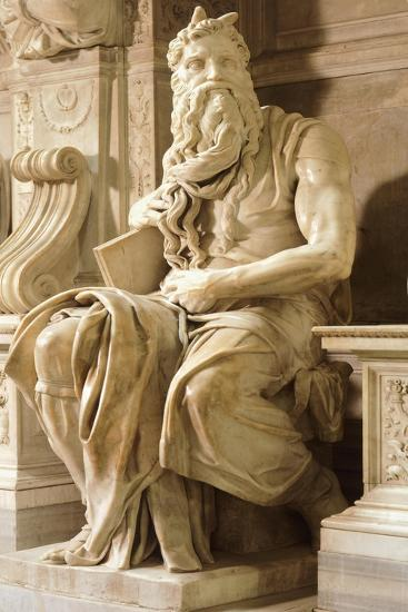 Moses, Detail from Tomb of Julius II-Michelangelo Buonarroti-Giclee Print