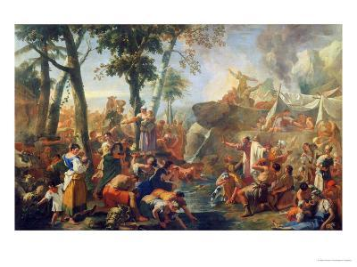 Moses Drawing Water from the Rock-Sebastiano Ricci-Giclee Print