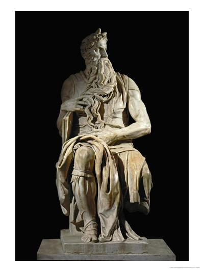 Moses, from the Tomb of Pope Julius II in San Pietro in Vincoli, Rome-Michelangelo Buonarroti-Giclee Print