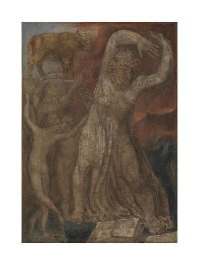 Moses Indignant at the Golden Calf-William Blake-Giclee Print