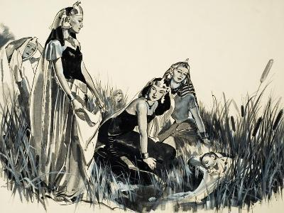 Moses Is Found Among the Bullrushes-McConnell-Giclee Print