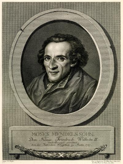 Moses Mendelssohn, 1884-90--Giclee Print