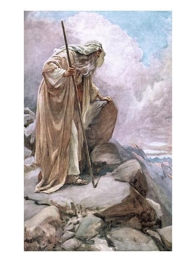 Moses on Pisgah-Harold Copping-Giclee Print