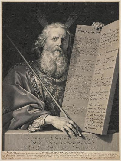 Moses Presenting the Ten Commandments, 1699-Robert Nanteuil-Giclee Print