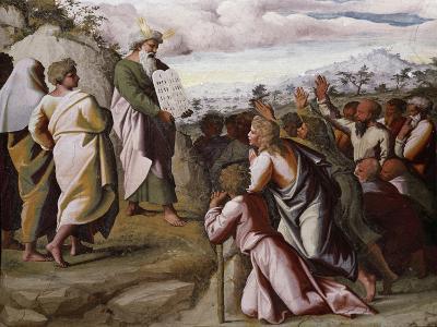 Moses Presenting the Ten Commandments-Raphael-Giclee Print