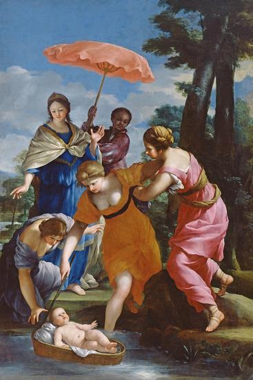 Moses Rescued from the Water, C.1655-57-Giovanni Francesco Romanelli-Giclee Print