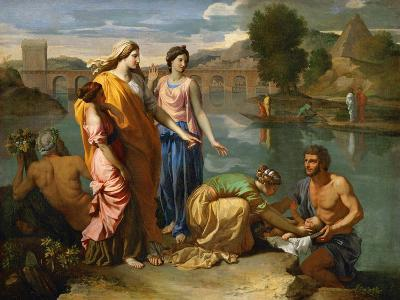 Moses Saved from the Floods of the Nile by the Pharaoh's Daughter-Nicolas Poussin-Giclee Print