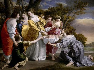 Moses Saved From the Waters', 1633, Italian School-Orazio Gentileschi-Giclee Print