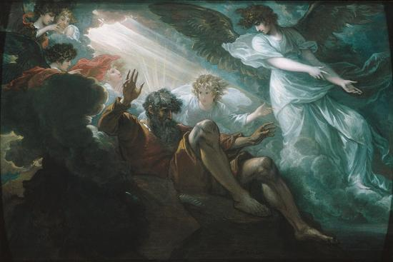 Moses Shown the Promised Land, 1801-Benjamin West-Giclee Print