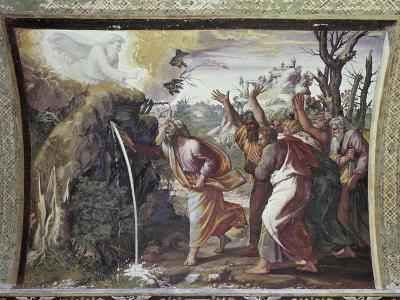 Moses Strikes the Rock-Raphael-Giclee Print