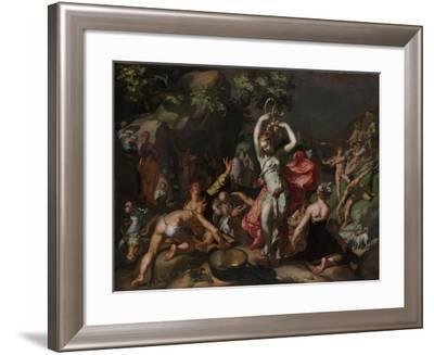Moses Striking the Rock, 1596-Abraham Bloemaert-Framed Giclee Print