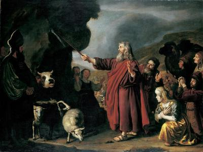 Moses Striking the Rock-Jan Victors-Giclee Print