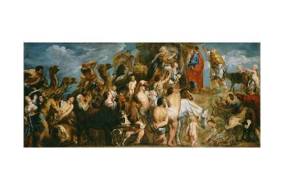 Moses Striking Water from the Rock, c.1645-50-Jacob Jordaens-Giclee Print