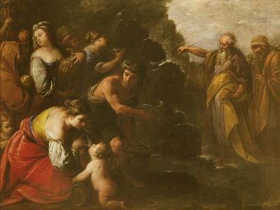 Moses Striking Water from the Rock-Giuseppe Nuvolone-Giclee Print