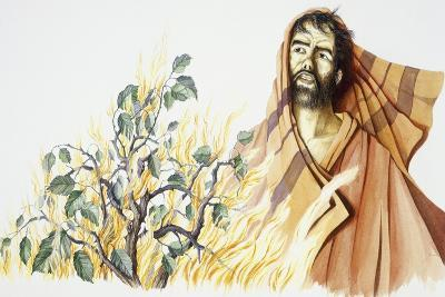Moses Watches Bush on Fire That Does Not Burn Out--Giclee Print