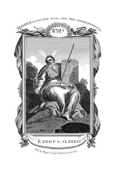 Moses with the Rod, and Ten Commandments, C1808--Giclee Print