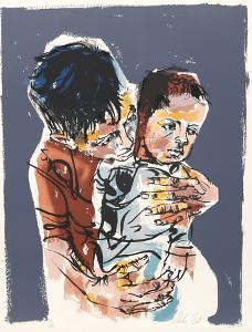 Father and Son from People in Israel by Moshe Gat