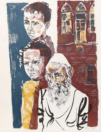 Two Boys and a Rabbi from People in Israel