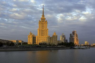 Moskva River and Hotel Ukraine-Gavin Hellier-Photographic Print