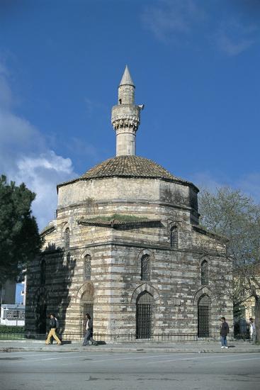 Mosque Along a Road, Mimar Sinan Mosque, Vlore, Albania--Giclee Print