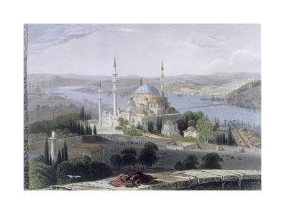 Mosque and Tomb of Suleiman, C.1850-William Henry Bartlett-Giclee Print