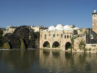 Mosque and Water Wheels on the Orontes River, Hama, Syria, Middle East-Christian Kober-Photographic Print
