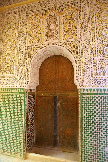 Mosque Entrance, Medina, Meknes, Morocco, North Africa, Africa-Neil Farrin-Photographic Print
