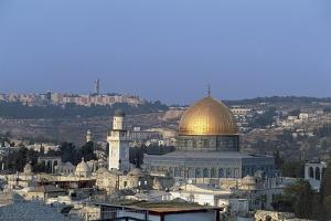 Mosque in a City, Mt Scopus, Dome of the Rock, Jerusalem, Israel