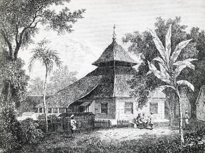 Mosque in Ambon, Capital of Maluku, from Alfred Russel Wallace'S--Giclee Print