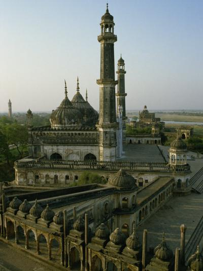 Mosque in Grounds of the Bara Imambara, Lucknow, India-John Henry Claude Wilson-Photographic Print