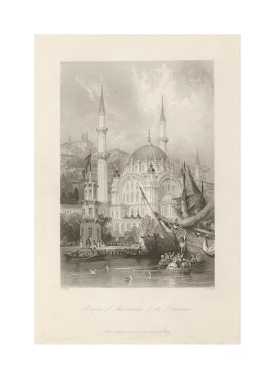 Mosque of Mahmoud II, at Tophana-Thomas Allom-Premium Giclee Print