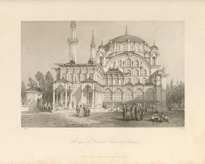Mosque of Sultan Selim at Scutari-Sir Thomas Allom-Premium Giclee Print