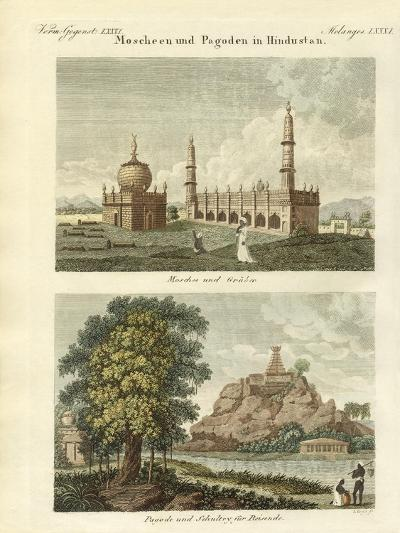 Mosques and Pagodas in Hindustan--Giclee Print