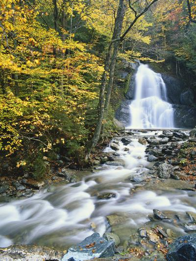 Moss Glen Falls in Autumn, Granvillie, Vermont, USA-Adam Jones-Photographic Print