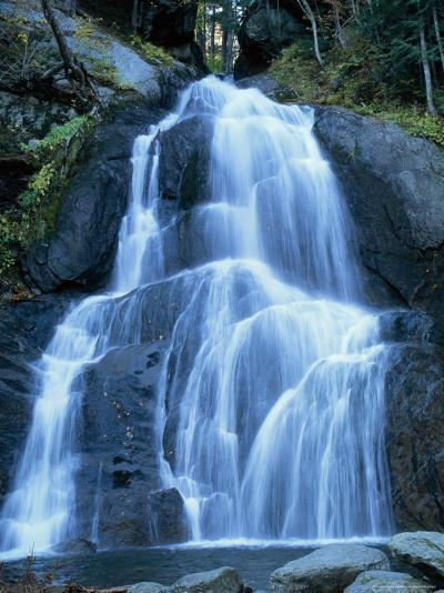 Moss Glen Falls in the Green Mountain National Forest, Vermont, New England, USA-Amanda Hall-Photographic Print