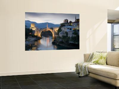 Mostar and Old Bridge over the Neretva River, Bosnia and Herzegovina-Gavin Hellier-Wall Mural