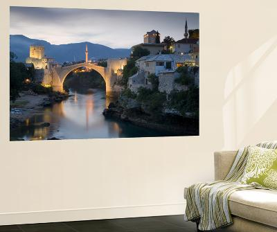 Mostar and Old Bridge over the Neretva River, Bosnia and Herzegovina-Gavin Hellier-Giant Art Print