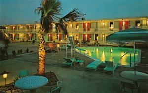 Motel Courtyard at Night