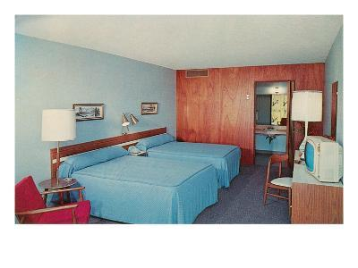 Motel Room with Two Double Beds--Art Print