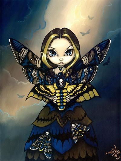Moth Queen Fairy:   Acherontia atropos-Jasmine Becket-Griffith-Art Print
