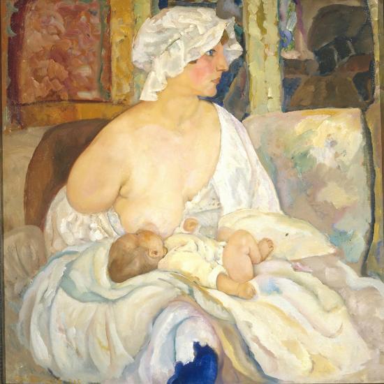 Mother, 1915-Boris Dmitryevich Grigoriev-Giclee Print