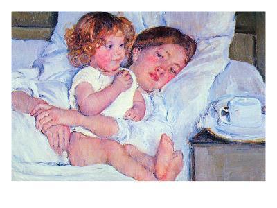 Mother and Baby-Mary Cassatt-Art Print
