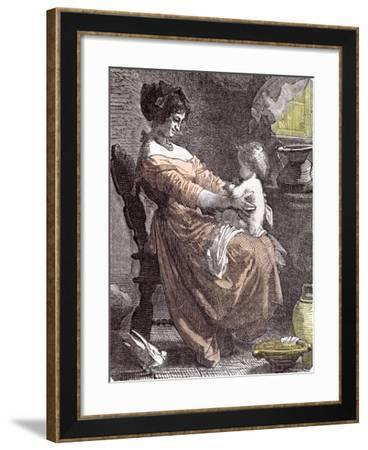 Mother and Child, 1855--Framed Giclee Print