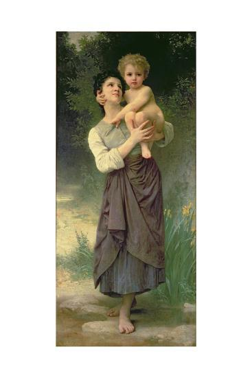 Mother and Child, 1887-William Adolphe Bouguereau-Giclee Print